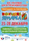 Новогодняя ярмарка на Центральной площади