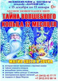 Афиша Ижевска — Новогоднее лесное шоу «Тайна волшебного кольца 12 месяцев»