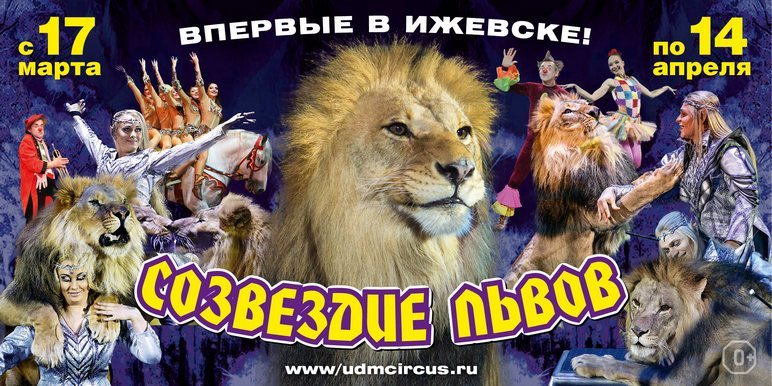 Афиша Ижевска — Цирк «Созвездие львов»