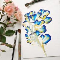 Афиша Ижевска — Мастер-класс «Абстрактный цветок»