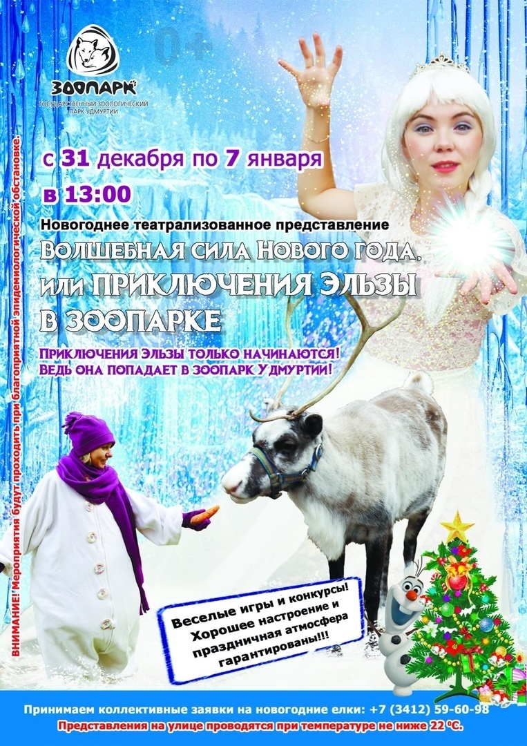 Новогоднее представление «Приключения Эльзы в Зоопарке»