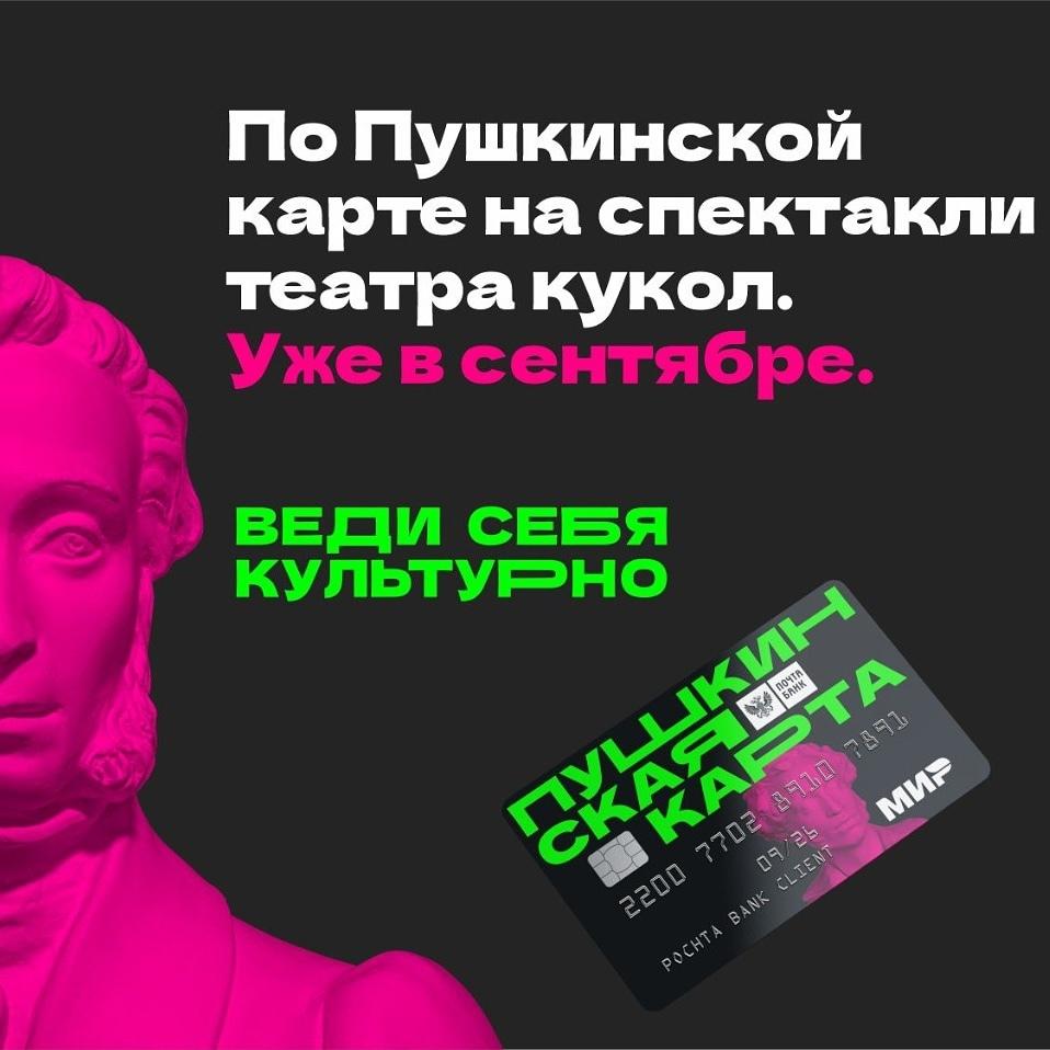 «Пушкинская карта» в Театре кукол