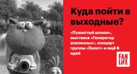 Афиша Ижевска — Куда пойти в выходные: «Пушистый шпион», выставка «Генератор вселенных», концерт группы «Пилот» и ещё 6 идей